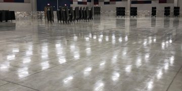 Picture of a polished concrete flooring for a meeting room at a local company in Detroit, MI