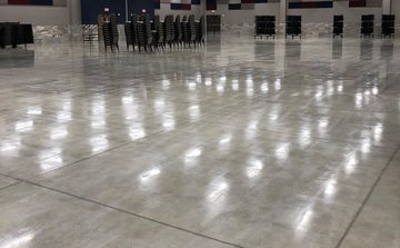 Picture of a concrete flooring poured for a conference room in Fort Wayne, IN
