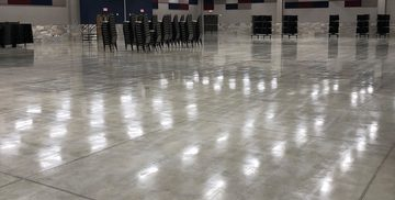 Picture of a shiny decorative concrete flooring for a manufacturing company in Cleveland, OH