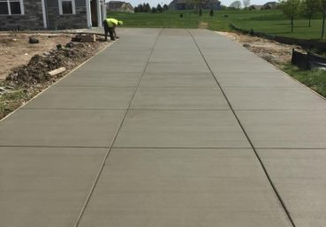 Picture of a new concrete driveway that was installed for a customer in Atlanta, GA.