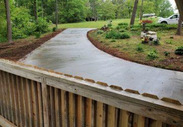 concrete driveway back view Macon, GA
