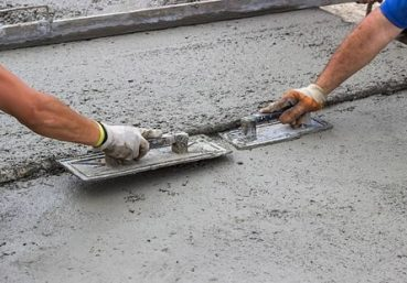 Picture of our crew doing a concrete repair on a driveway for a customer in Chattanooga, TN