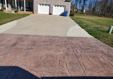 stained concrete driveway Allentown, PA