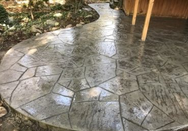 Picture of a stamped concrete patio installed for a customer in Allentown, PA