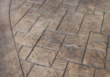 Picture of a stamped concrete porch that was installed for a customer in Miami, FL